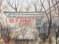 Abandoned Fruit Stand on Old National Road